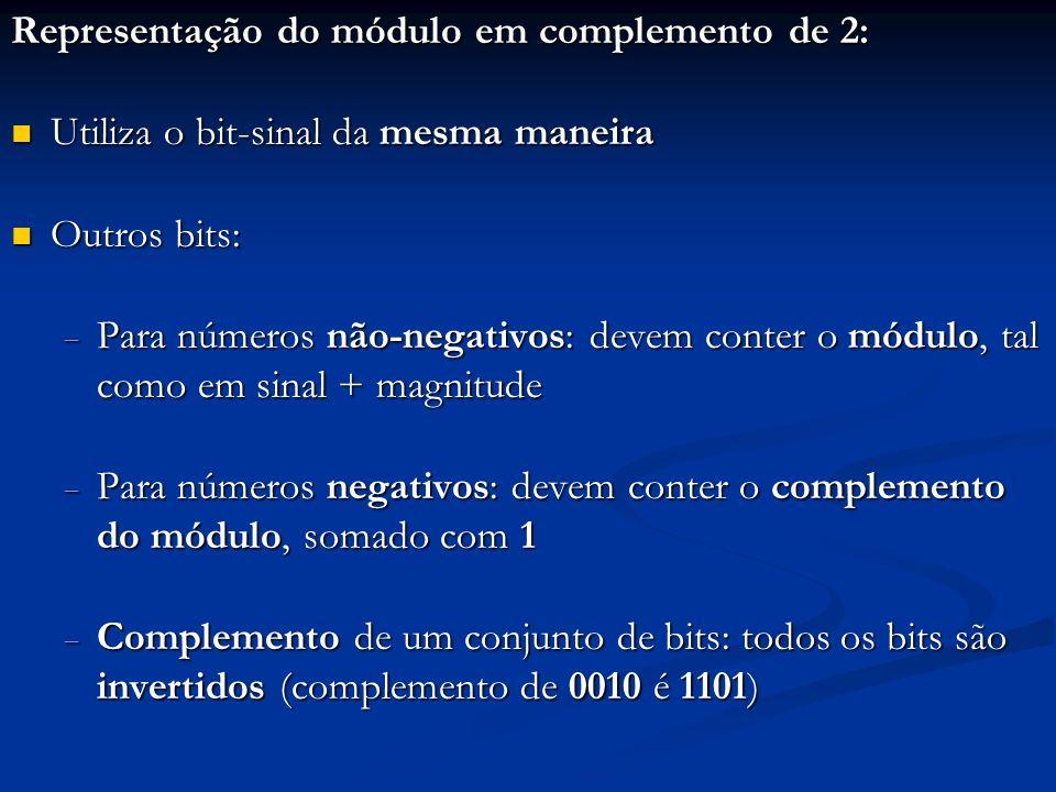 Representação do módulo em complemento de 2: