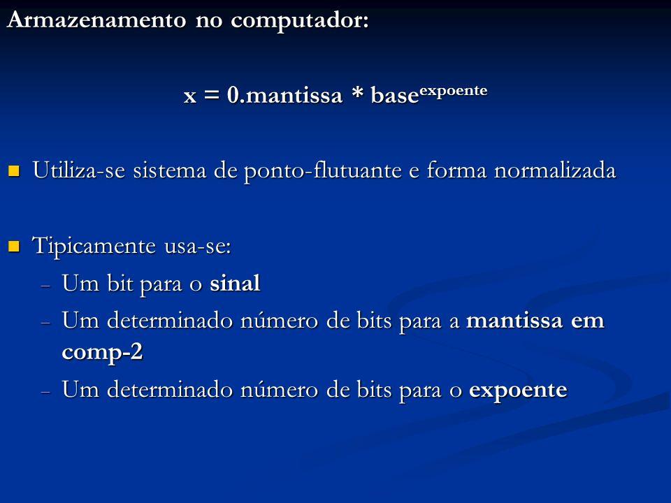 x = 0.mantissa * baseexpoente