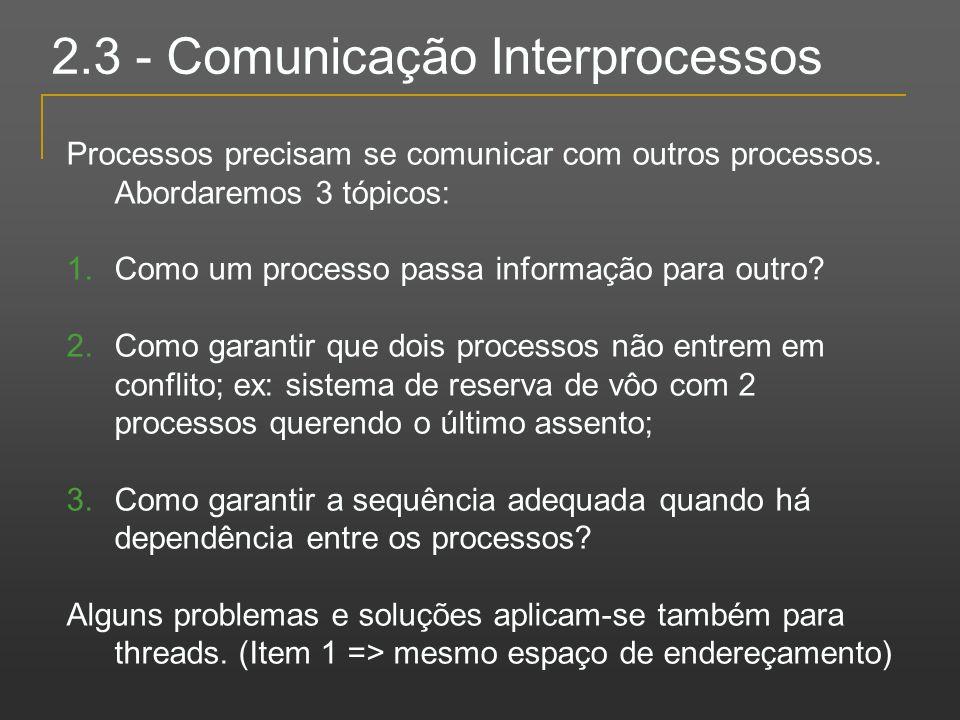 2.3 - Comunicação Interprocessos