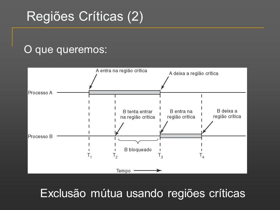 Exclusão mútua usando regiões críticas