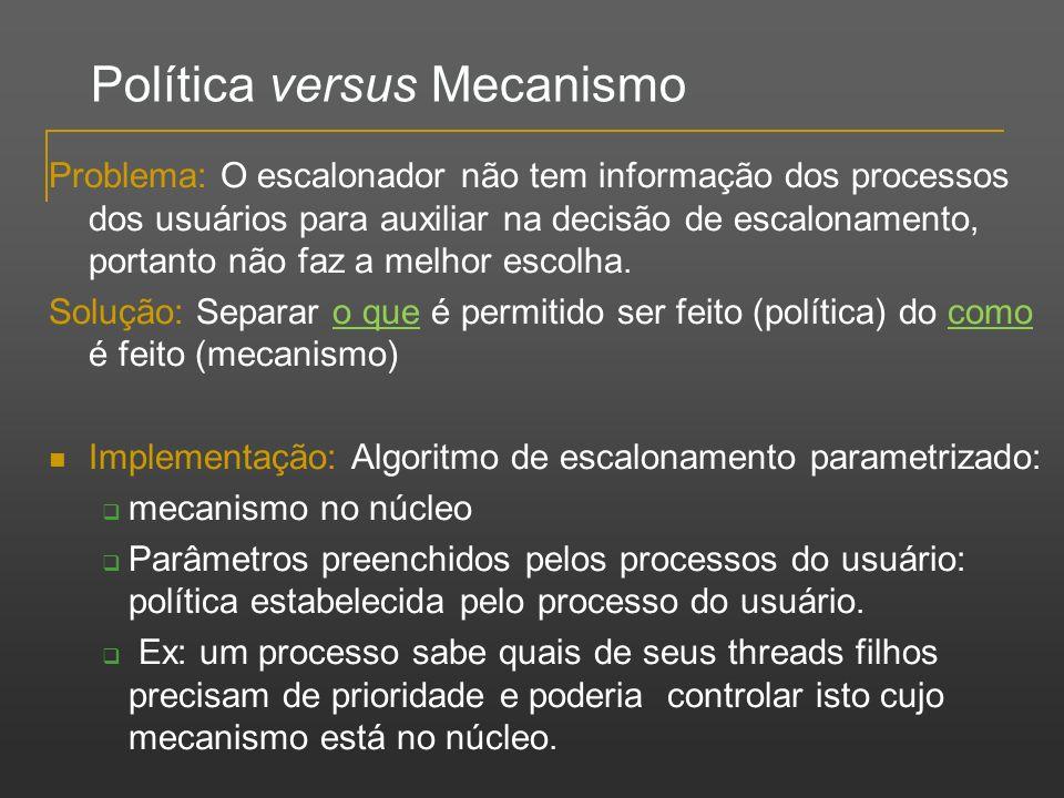 Política versus Mecanismo