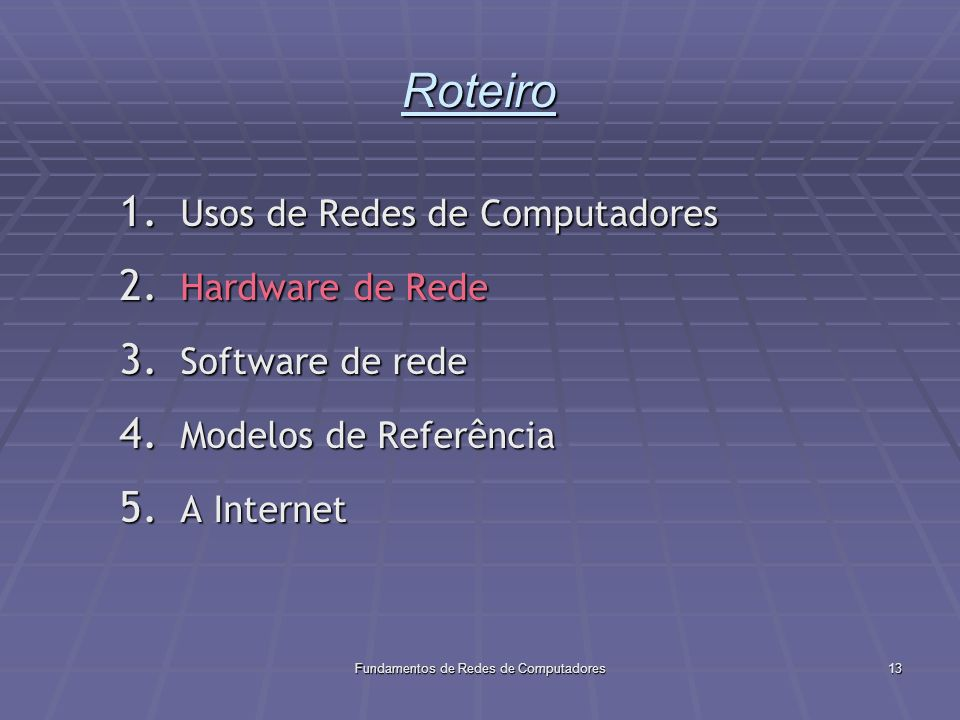 Fundamentos de Redes de Computadores