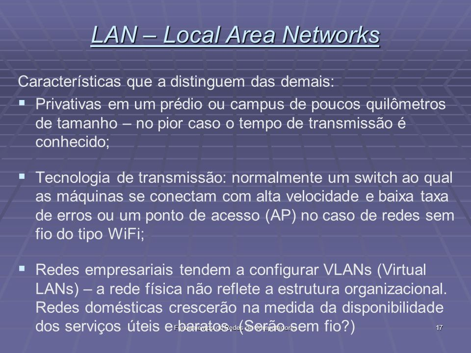 LAN – Local Area Networks