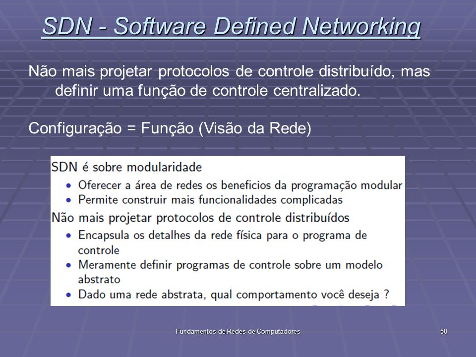 SDN - Software Defined Networking
