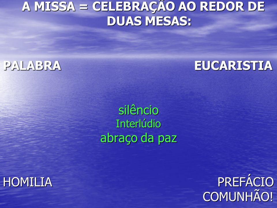 A MISSA = CELEBRAÇÃO AO REDOR DE