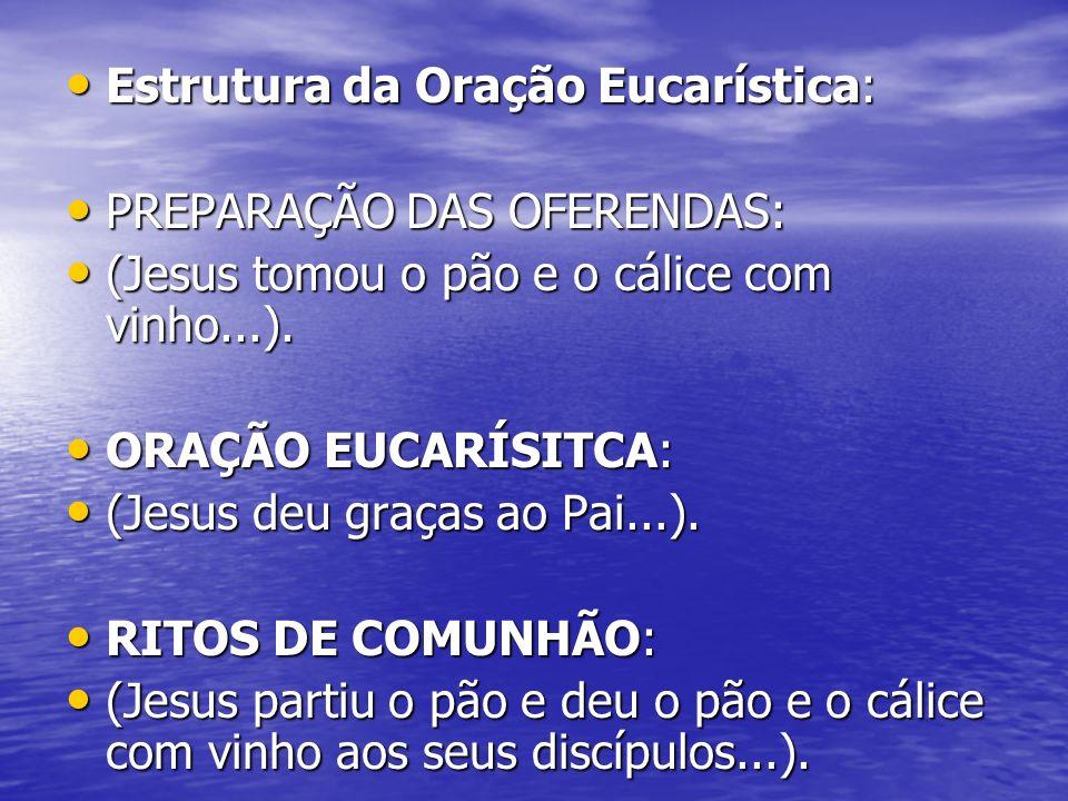 Estrutura da Oração Eucarística: