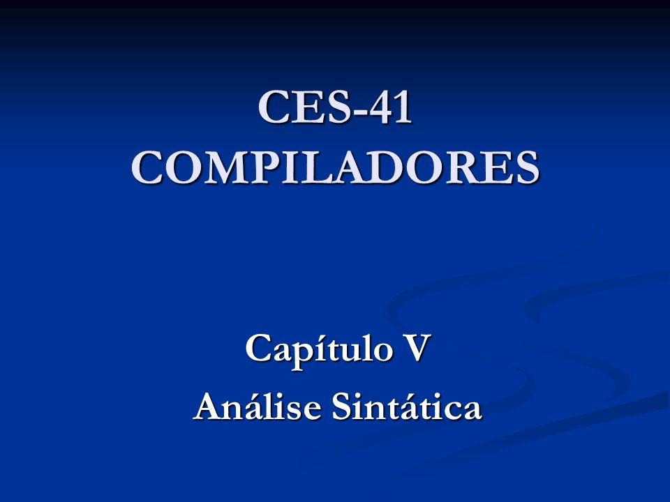 Capítulo V Análise Sintática
