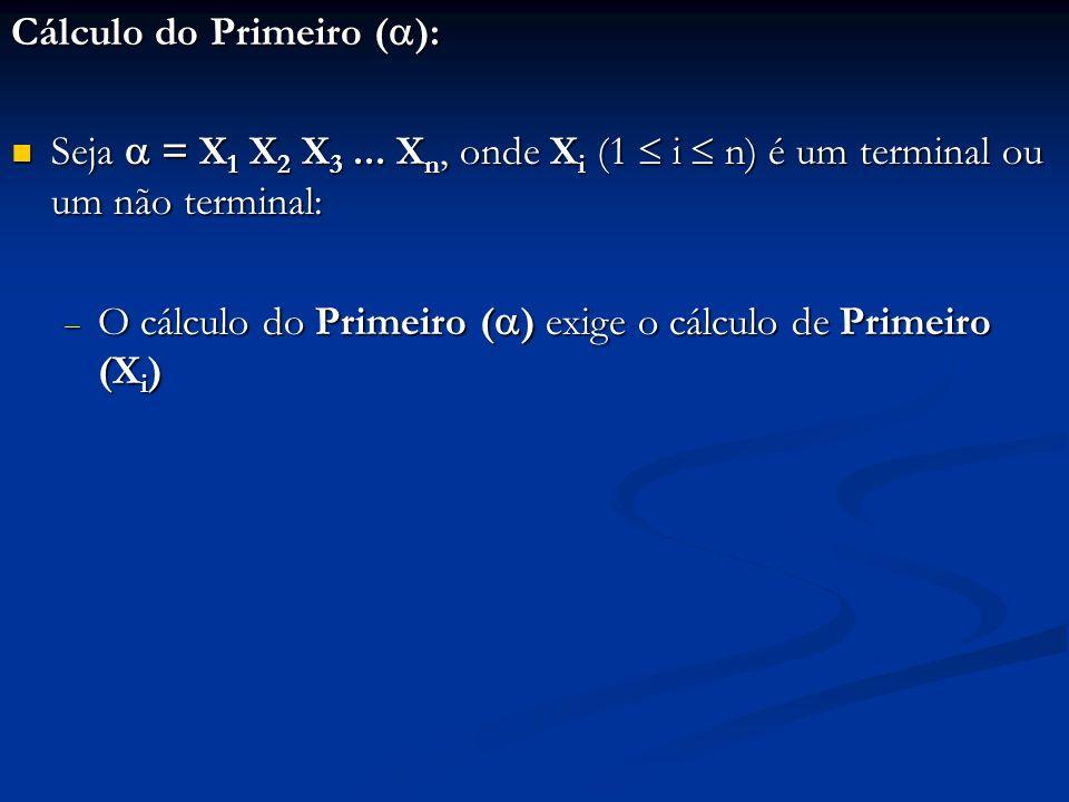 Cálculo do Primeiro ():