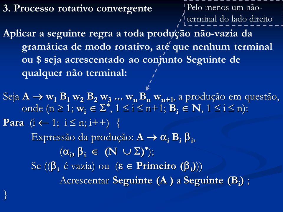 3. Processo rotativo convergente