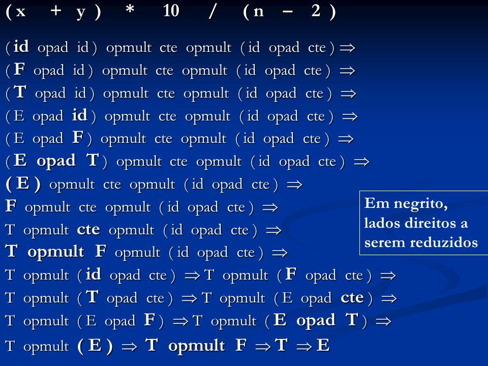 ( E ) opmult cte opmult ( id opad cte ) 