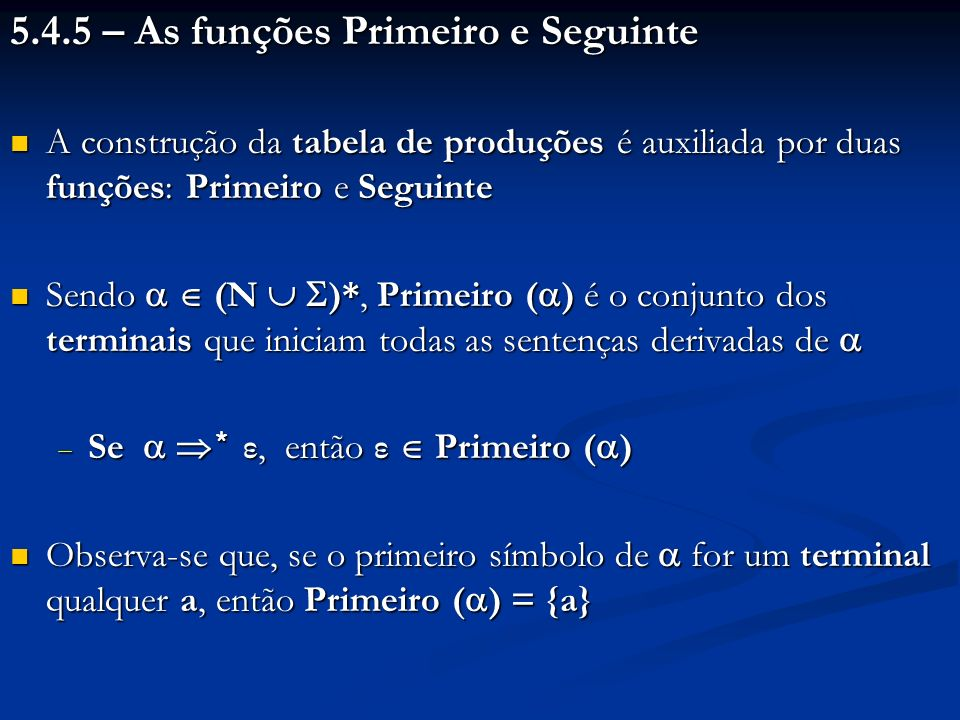 5.4.5 – As funções Primeiro e Seguinte