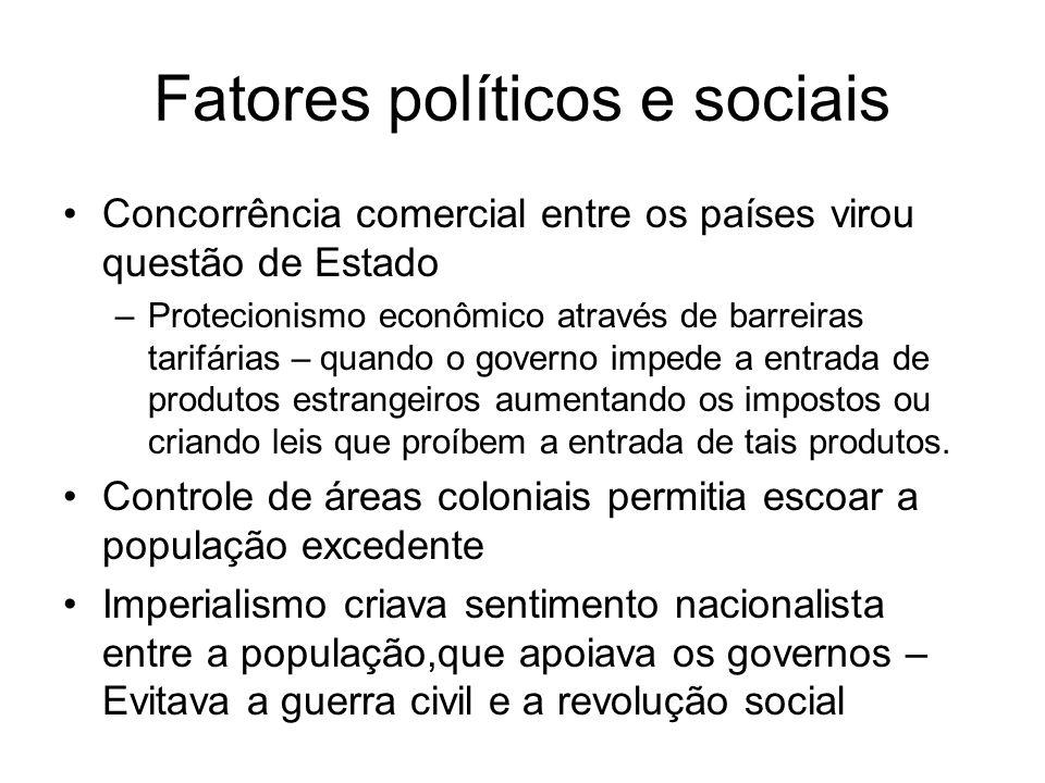 Fatores políticos e sociais