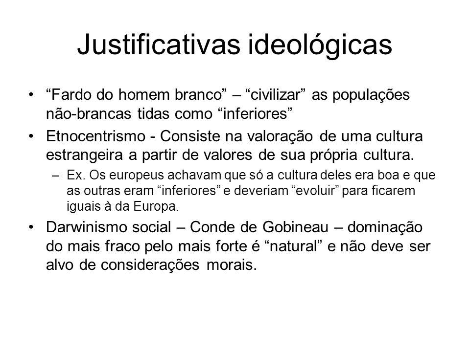 Justificativas ideológicas