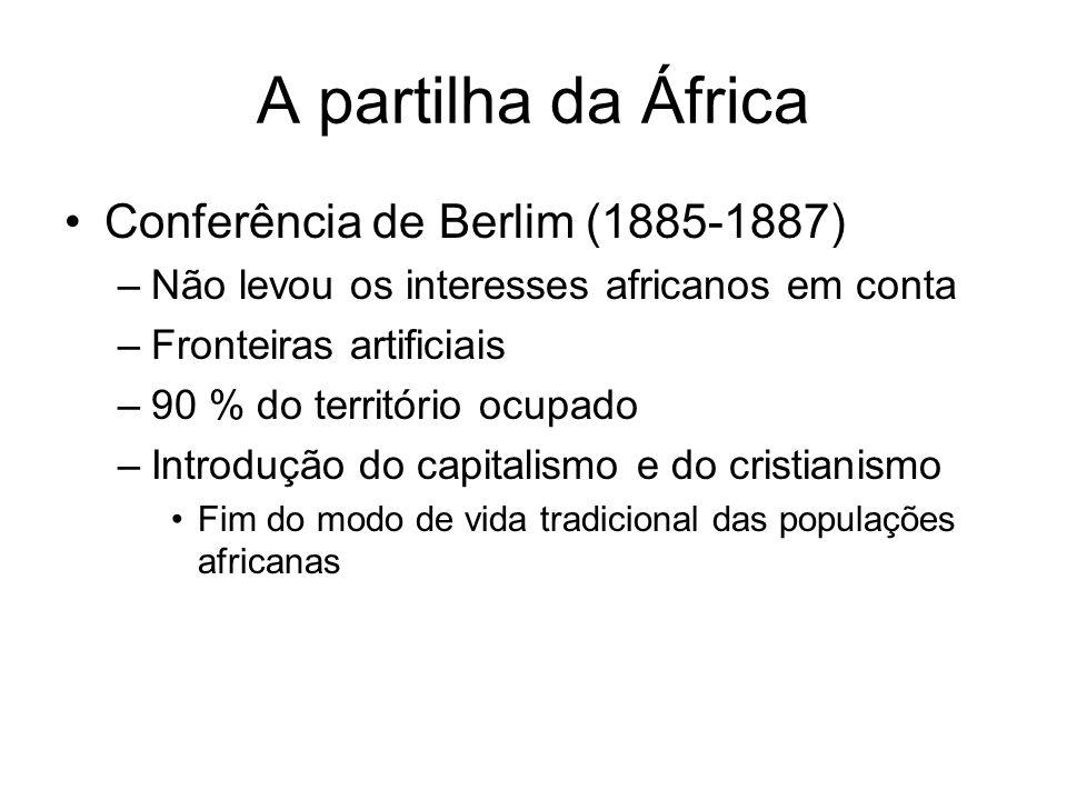A partilha da África Conferência de Berlim (1885-1887)
