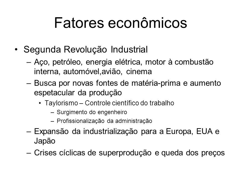 Fatores econômicos Segunda Revolução Industrial