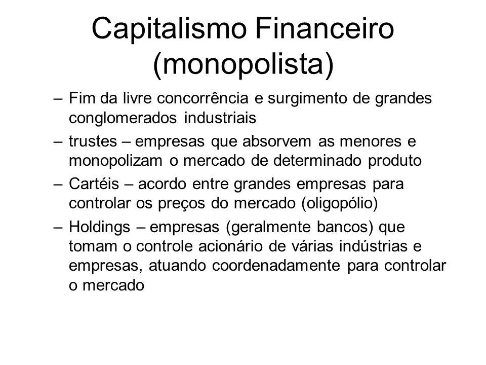 Capitalismo Financeiro (monopolista)