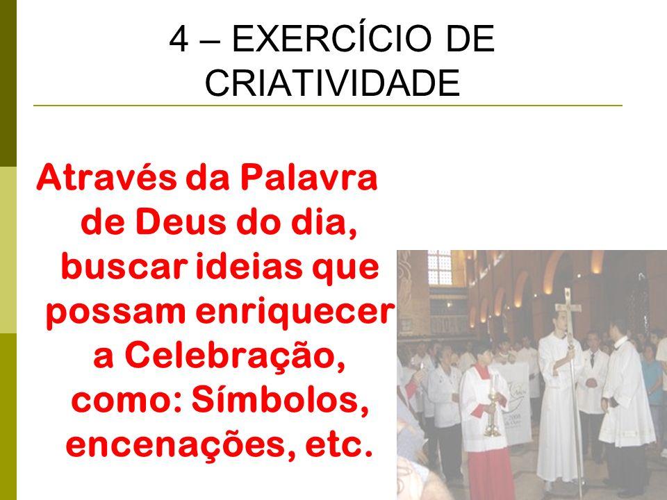 4 – EXERCÍCIO DE CRIATIVIDADE