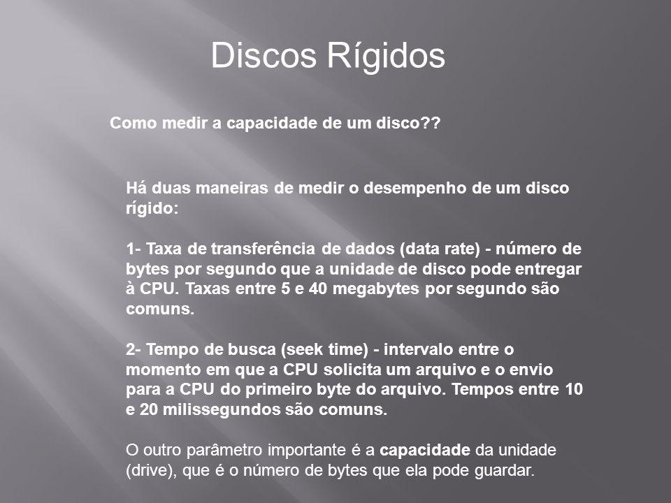 Discos Rígidos Como medir a capacidade de um disco
