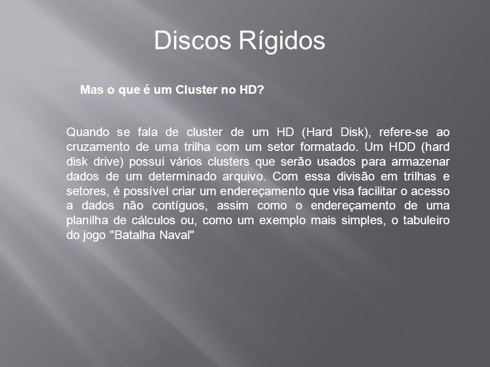 Discos Rígidos Mas o que é um Cluster no HD