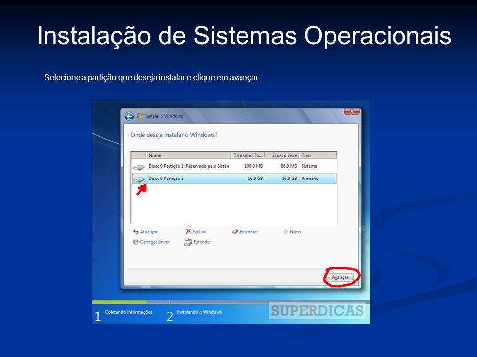Instalação de Sistemas Operacionais