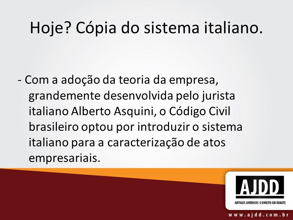Hoje Cópia do sistema italiano.