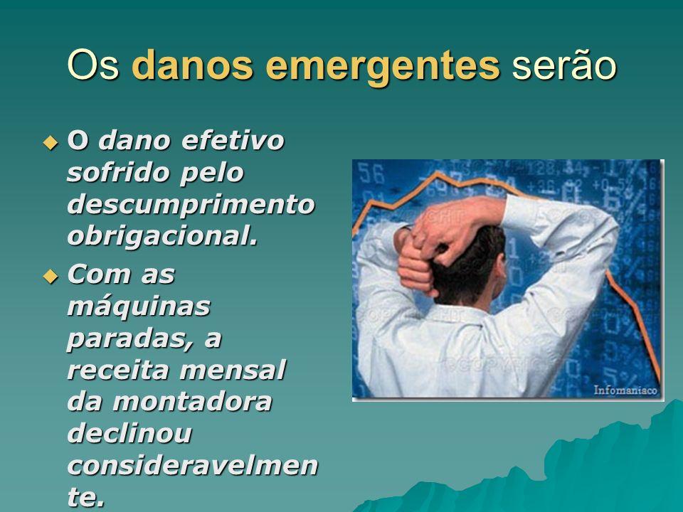 Os danos emergentes serão