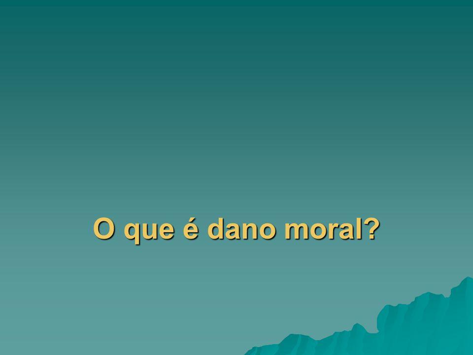 O que é dano moral