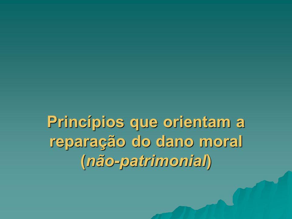 Princípios que orientam a reparação do dano moral (não-patrimonial)
