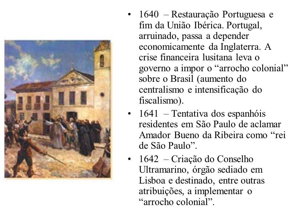 1640 – Restauração Portuguesa e fim da União Ibérica