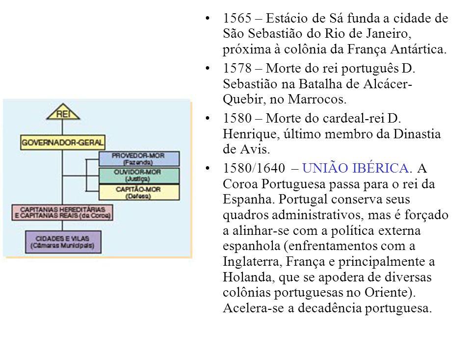 1565 – Estácio de Sá funda a cidade de São Sebastião do Rio de Janeiro, próxima à colônia da França Antártica.