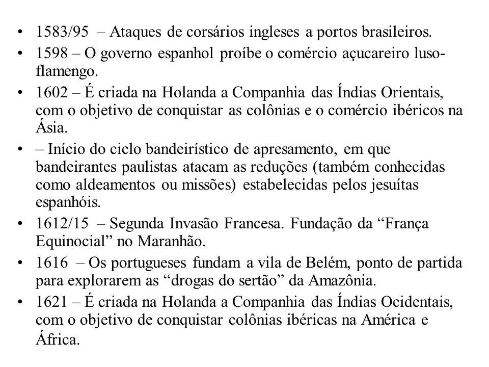 1583/95 – Ataques de corsários ingleses a portos brasileiros.