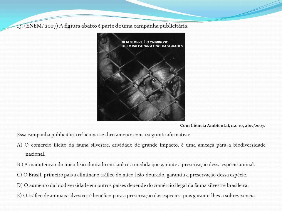 13. (ENEM/ 2007) A fig1ura abaixo é parte de uma campanha publicitária.