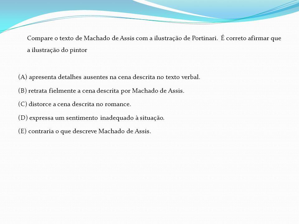Compare o texto de Machado de Assis com a ilustração de Portinari