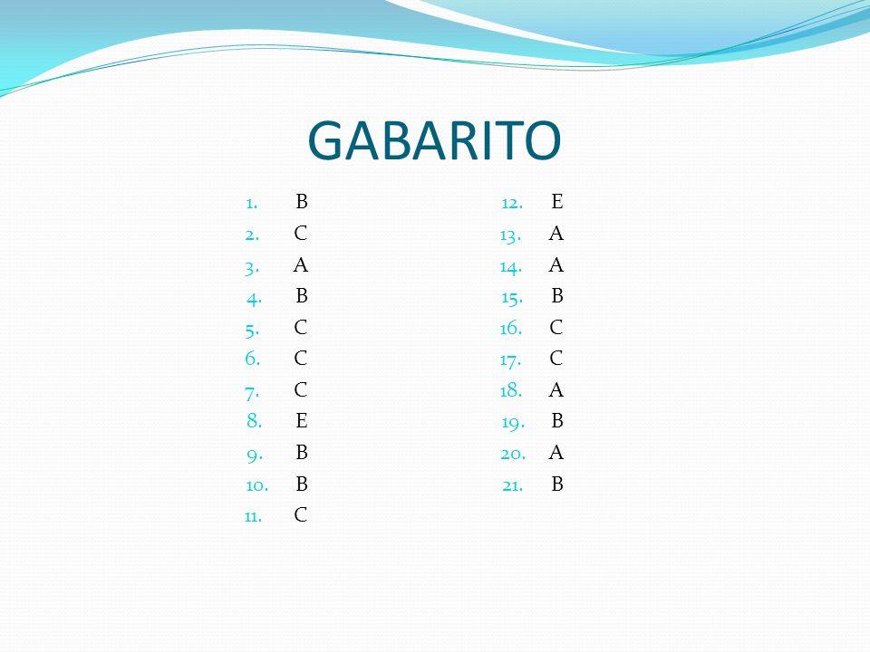 GABARITO B C A E