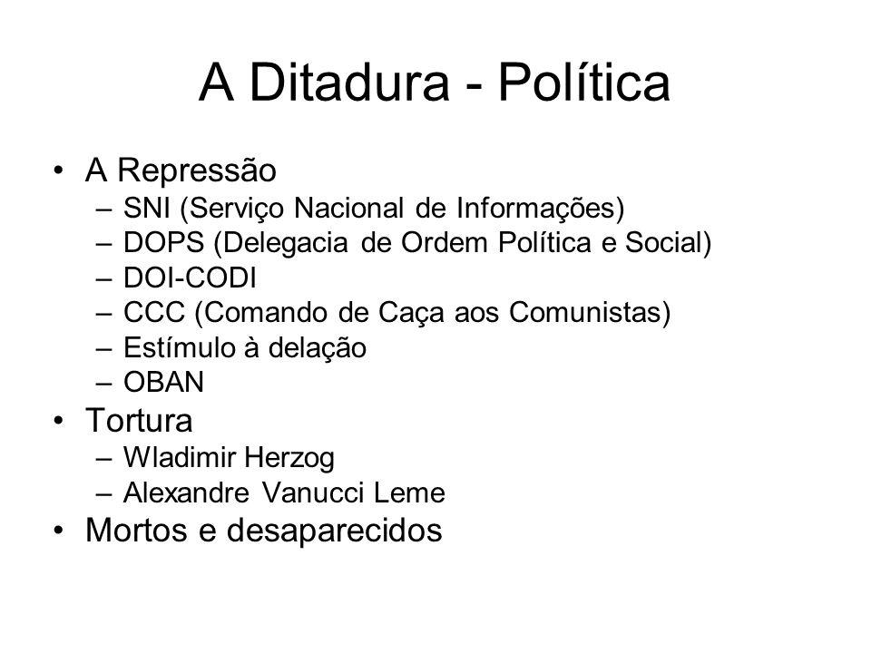 A Ditadura - Política A Repressão Tortura Mortos e desaparecidos
