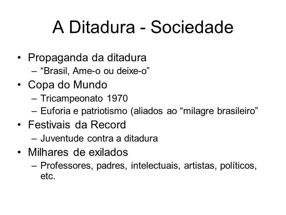 A Ditadura - Sociedade Propaganda da ditadura Copa do Mundo