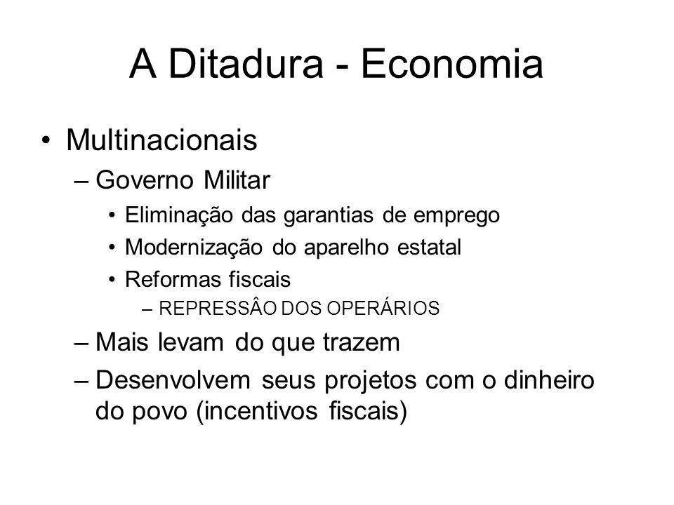 A Ditadura - Economia Multinacionais Governo Militar