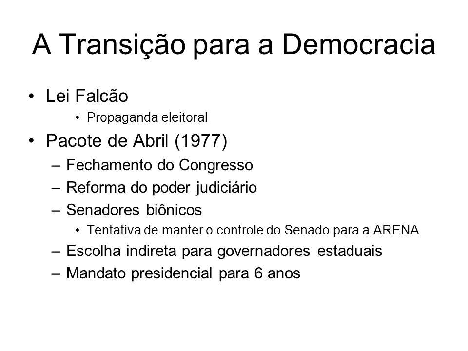 A Transição para a Democracia