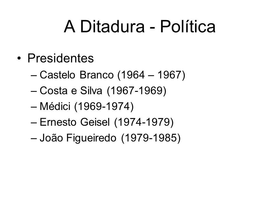 A Ditadura - Política Presidentes Castelo Branco (1964 – 1967)