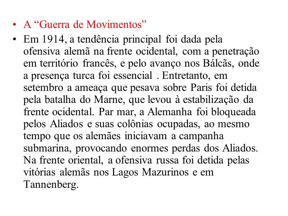 A Guerra de Movimentos
