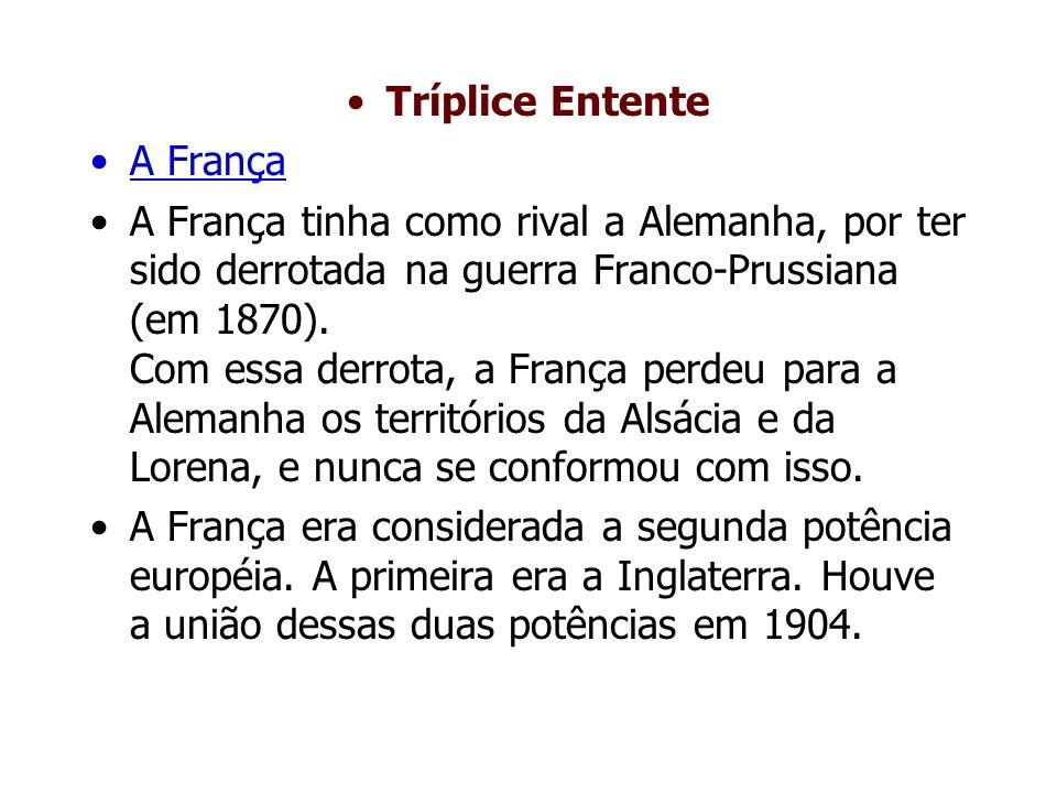 Tríplice Entente A França.