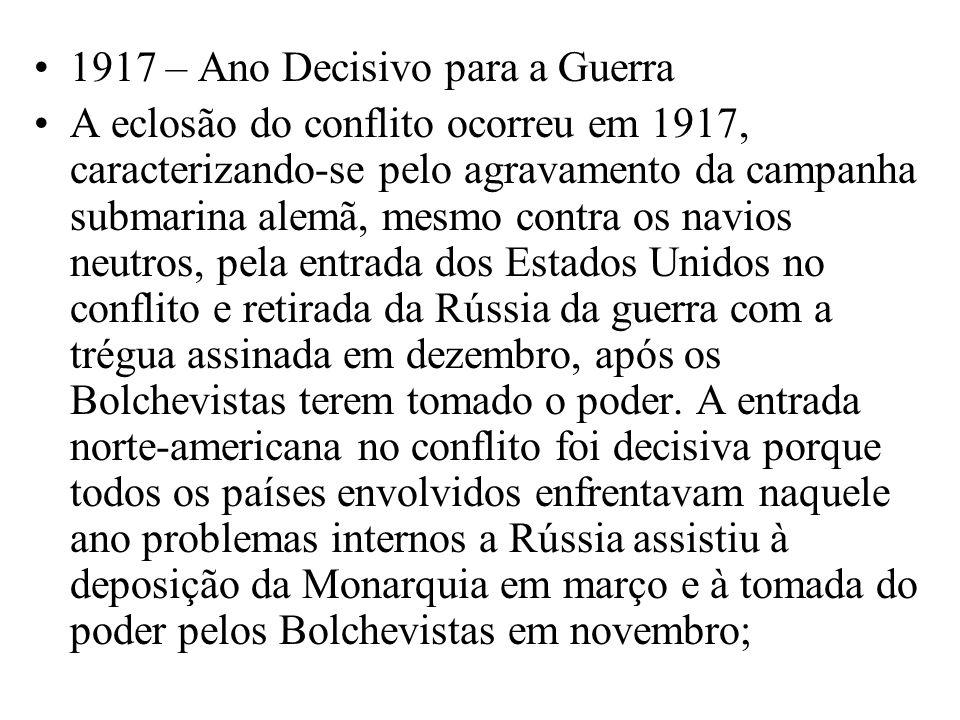 1917 – Ano Decisivo para a Guerra