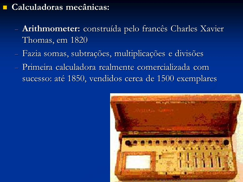 Calculadoras mecânicas: