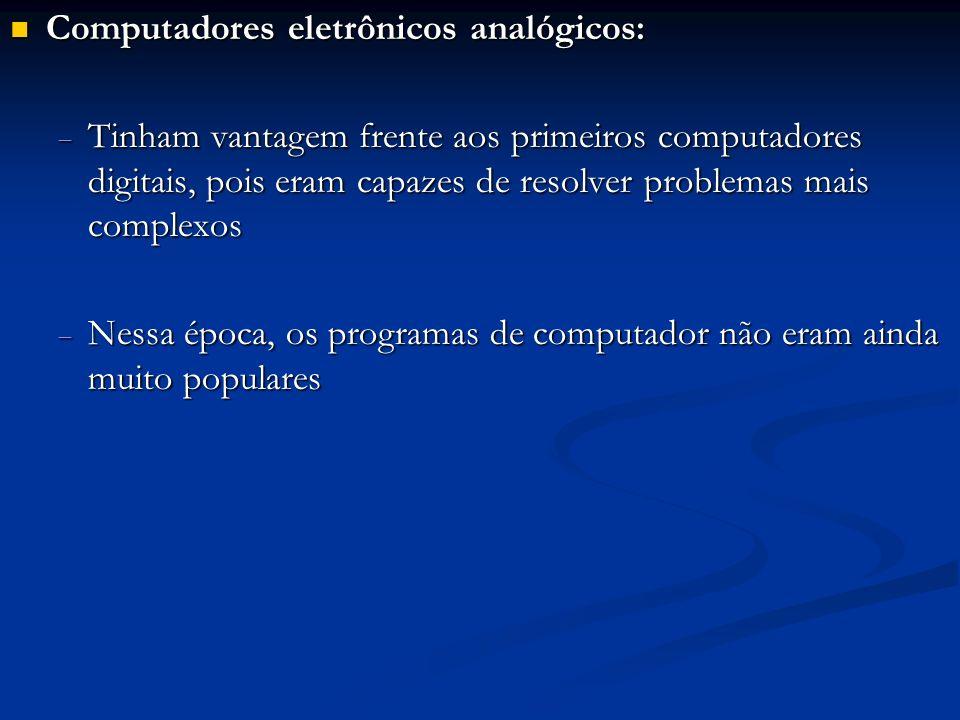 Computadores eletrônicos analógicos: