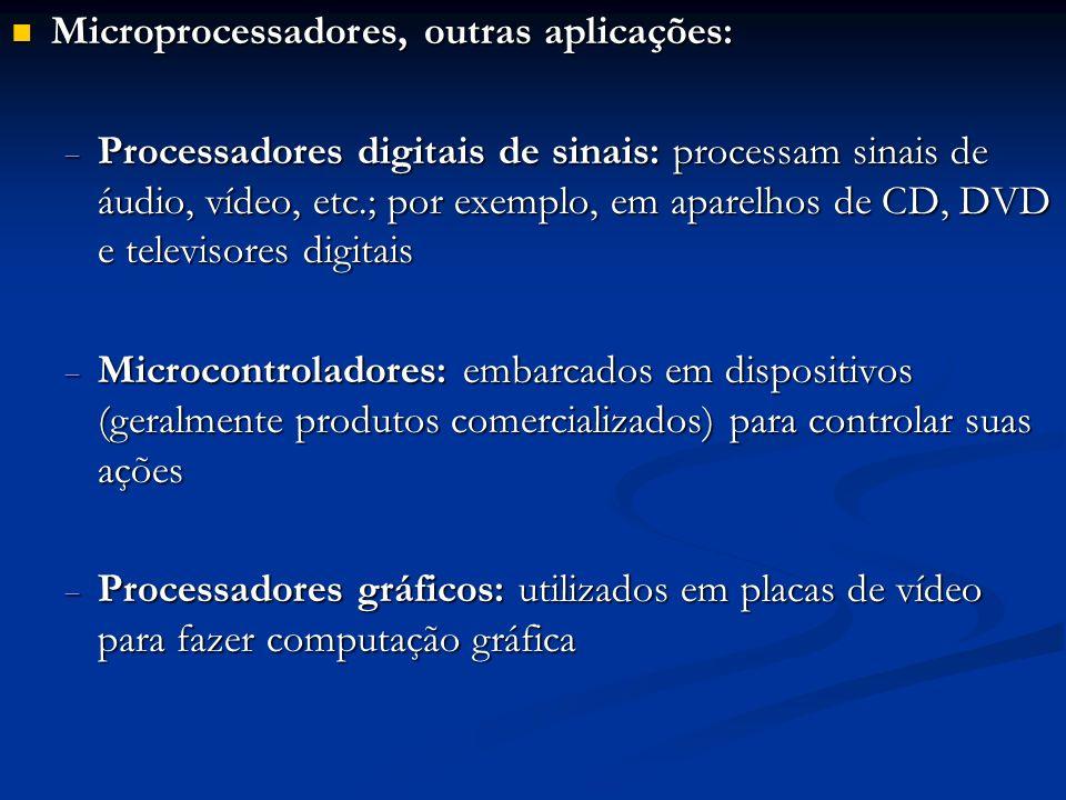 Microprocessadores, outras aplicações: