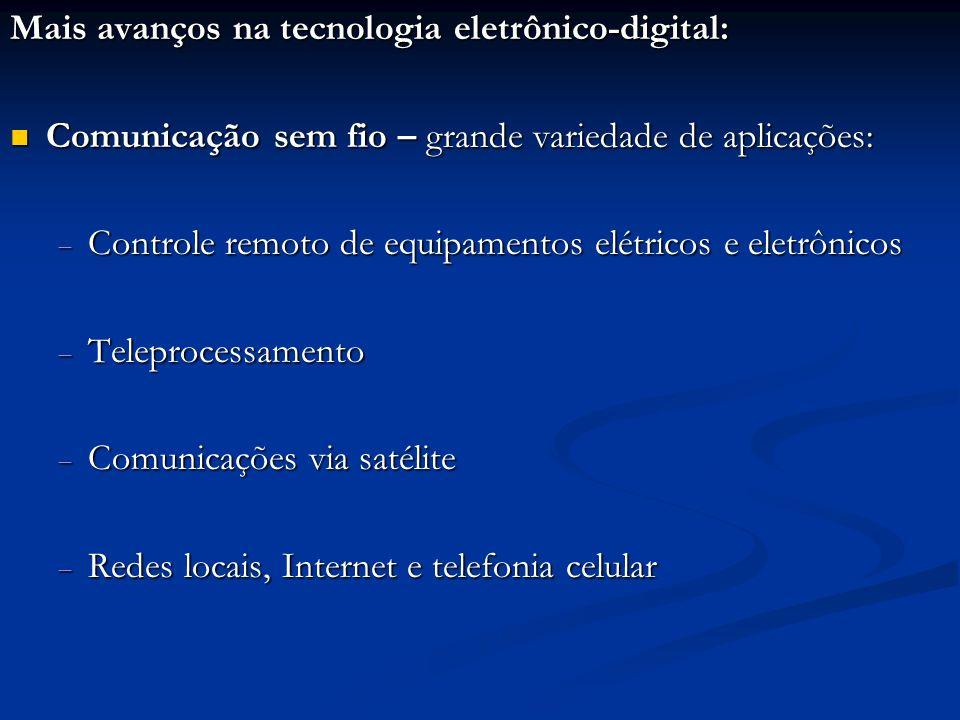 Mais avanços na tecnologia eletrônico-digital: