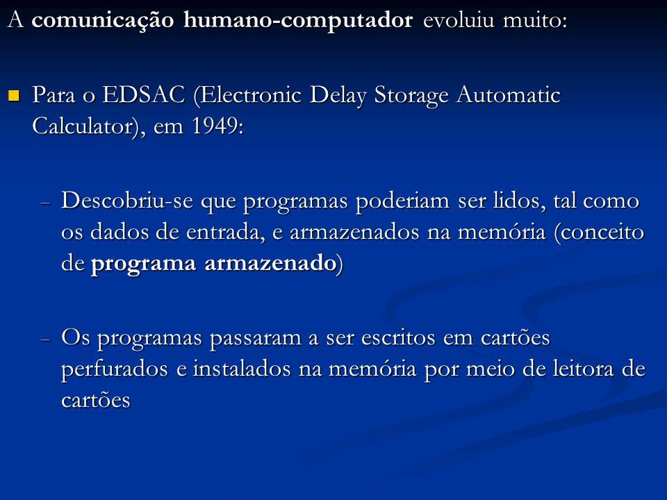 A comunicação humano-computador evoluiu muito: