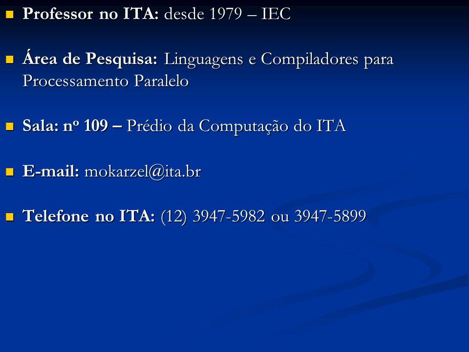Professor no ITA: desde 1979 – IEC