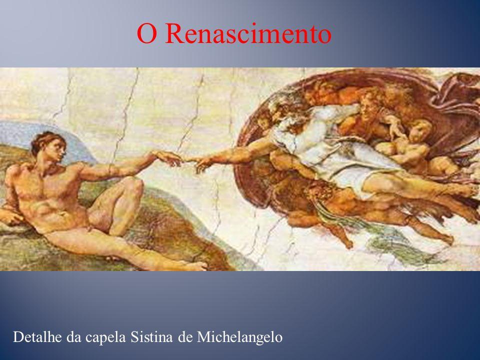 O Renascimento Detalhe da capela Sistina de Michelangelo