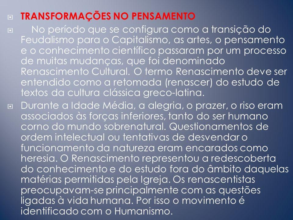 TRANSFORMAÇÕES NO PENSAMENTO